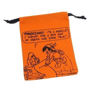 「メール便可」「巾着袋」 巾着袋 ピノキオ パレットきんちゃく スモールプラネット ピノキオの願いO...