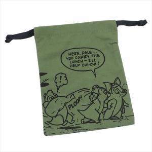 巾着袋 荷物は任せたKH ディズニー 小物入れ チップ&デール キャラクター グッズ パレットきんちゃく|cinemacollection