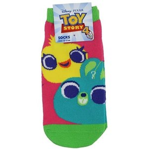「メール便可」「靴下:キッズ」 トイストーリー 4 ジュニア ソックス 子供用 靴下 ダッキー&バニ...