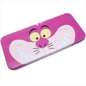 「缶ペンケース」 缶ペンケース ふしぎの国のアリス キャラカンペン チェシャ猫 フェイスアップ ディ...