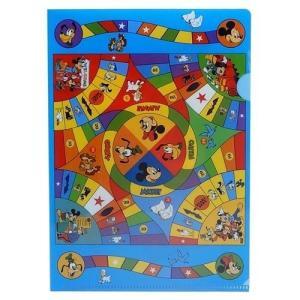 ミッキーマウス ミニ ファイル A5 シングル クリアファイル スモールプラネット ゲームボード01 グッズ NOSTALGICA 文具 キャラクター ディズニー|cinemacollection
