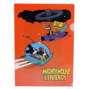 ミッキー & フレンズ ミニ ファイル A5 シングル クリアファイル アウトオブオーダー ディズニー スモールプラネット NOSTALGICA|cinemacollection