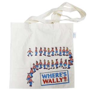 「メール便可」「エコバッグ」 エコバッグ ウォーリーを探せ エコマーク付コットンバッグ こどもたち ...