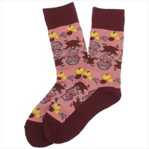 女性用靴下 ムーミン レディース トレッキングソックス りんご 北欧 日本製 抗菌防臭加工 男女兼用|cinemacollection