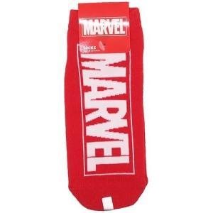 女性用 靴下 MARVEL ロゴ レディース ソックス スモールプラネット レッド グッズ アメコミ キャラクター cinemacollection