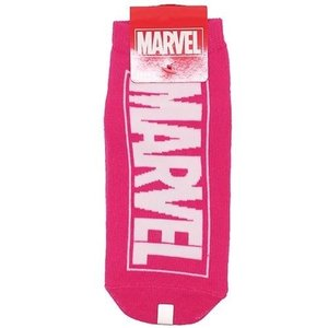 MARVEL 靴下 ロゴ レディース ソックス 女性用 ピンク グッズ アメコミ cinemacollection