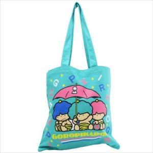 「トートバッグ」 ゴロピカドン キャンバスカラートート トートバッグ スモールプラネット 傘 グリー...