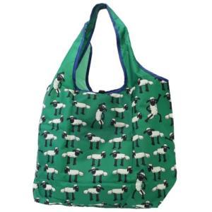 「メール便可」「エコバッグ」 ひつじのショーン エコバッグ 折りたたみ くるくる ショッピングバッグ...