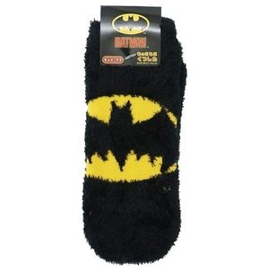 女性用 防寒 靴下 バットマン レディース もこもこ ショートソックス DCコミック マーク BK ウォーマー雑貨 キャラクター|cinemacollection