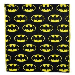BATMAN ハンドタオル ウォッシュタオル バットマン ロゴ ちらし DCコミック スモールプラネット 34×36cm cinemacollection