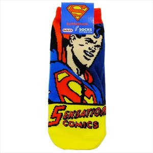 「メール便可」「靴下:メンズ」 スーパーマン 男性用 靴下 メンズ ソックス コミック DCコミック...