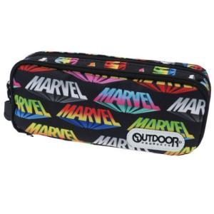 マーベル グッズ 筆箱 ツインファスナー BOX ペンケース ロゴ MARVEL スポーツブランド