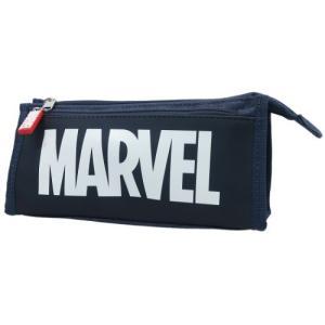 ペンポーチ マーベル サンカク ペンケース MARVEL ネイビーブルー 21.5×10×6cm 筆箱|cinemacollection