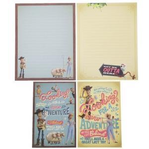 手紙用品 トイストーリー 4 レターセット ディズニー アンティーク 便箋 封筒 かわいい キャラクター|cinemacollection