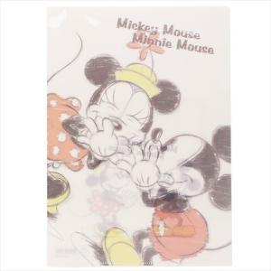 ミッキー&ミニー ファイル A4シングルクリアファイル 2159538 ディズニー サンスター文具 事務用品 日本製 キャラクター グッズ|cinemacollection
