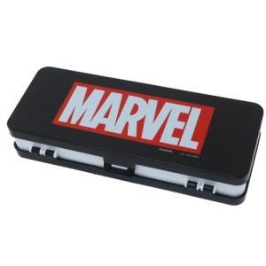 マーベル MARVEL グッズ Wストレージ プラペンケース 筆箱 ブラックホワイト ツジセル|cinemacollection
