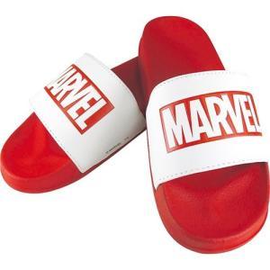 ロゴ サンダル MARVEL シャワー サンダル ティーズファクトリー レッド×ホワイト グッズ 男女兼用 23.5〜25.5cm|cinemacollection