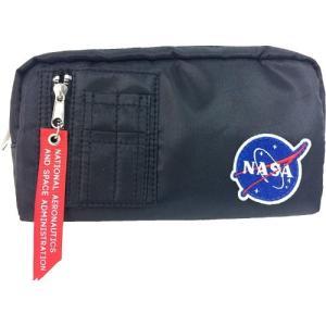 コスメポーチ グッズ NASA MA-1 ポーチ ブラック 宇宙|cinemacollection