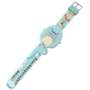 ダイカット ライティング ウォッチ すみっコぐらし デジタル腕時計 サンエックス とかげ キャラクターのシネマコレクション