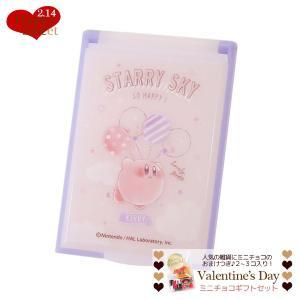 バレンタイン チョコセット 星のカービィ 手鏡 カードミラー S バルーン Nintendo nintendo ミニ チョコレート お菓子つき|cinemacollection