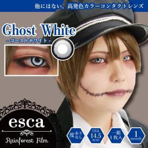 エスカ ホラーコンタクトレンズ ゴーストホワイト Ghost White ES003(1枚入)度あり・度なし|狼やハスキーのような冷たい目 カラコン コスプレ 特殊メイク SFX|cinemasecrets