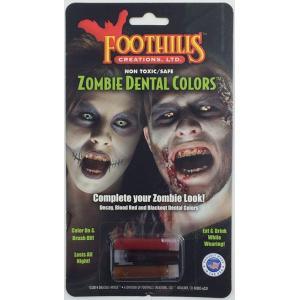 ゾンビの口から滴る血… 血糊とお歯黒のセット Dracula House ZOMBIE DENTAL BLOOD FCC303|ゾンビ,死体,ウォーキングデッド,お歯黒,血糊|cinemasecrets