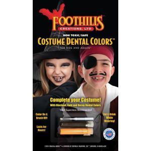 海賊や魔女のコスプレに コスチュームデンタルカラー Dracula House Costume Dental Colors FCC304|魔女,海賊,ミイラ,ウォーキングデッド,お歯黒|cinemasecrets