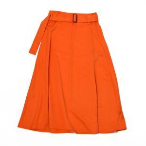 AERON【エアロン】フレアスカート 31609 orange キュプラ レーヨン オレンジ|cinqessentiel