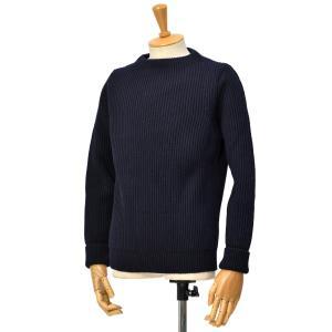ANDERSEN-ANDERSEN【アンデルセンアンデルセン】クルーネックニット AD-002 CREW NECK wool BLUE(ネイビー) cinqessentiel