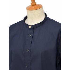 Bagutta【バグッタ】バンドカラーシャツ G_LERA CN0672 051 コットン ナイロン ネイビー|cinqessentiel|03