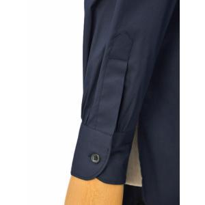 Bagutta【バグッタ】バンドカラーシャツ G_LERA CN0672 051 コットン ナイロン ネイビー|cinqessentiel|05