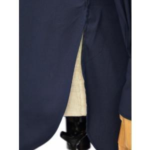 Bagutta【バグッタ】バンドカラーシャツ G_LERA CN0672 051 コットン ナイロン ネイビー|cinqessentiel|07