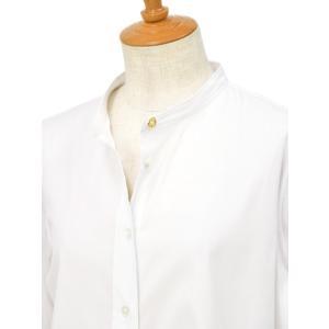 Bagutta【バグッタ】バンドカラーシャツ G_LERA CN0672 001 コットン ナイロン ホワイト|cinqessentiel|02