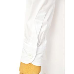 Bagutta【バグッタ】バンドカラーシャツ G_LERA CN0672 001 コットン ナイロン ホワイト|cinqessentiel|05