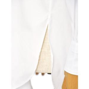 Bagutta【バグッタ】バンドカラーシャツ G_LERA CN0672 001 コットン ナイロン ホワイト|cinqessentiel|06