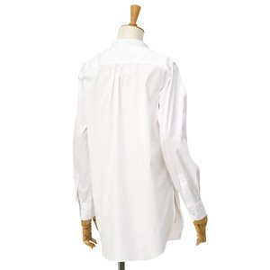 Bagutta【バグッタ】バンドカラーシャツ G_LERA CN0672 001 コットン ナイロン ホワイト|cinqessentiel|07