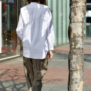 Bagutta【バグッタ】バンドカラーシャツ G_LERA CN0672 001 コットン ナイロン ホワイト|cinqessentiel|10