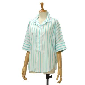 Bagutta【バグッタ】半袖ストライプシャツ ARMIDA 06272 260 コットン ブルー|cinqessentiel