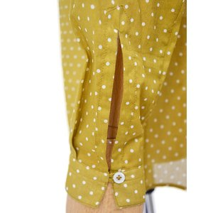 Bagutta【バグッタ】バンドカラーブラウス DALIA 09612 620 コットン マスタード|cinqessentiel|04