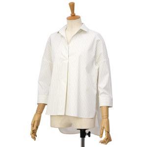 BARBA【バルバ】ストライプスキッパーシャツ PE1864U00962 コットン ナイロン ホワイト|cinqessentiel