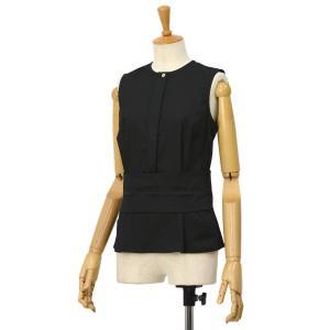 BARBA【バルバ】ノースリーブウエストマークシャツ PE1928 161002 コットン ナイロン ブラック|cinqessentiel