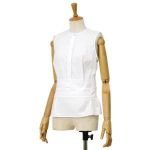 BARBA【バルバ】ノースリーブウエストマークシャツ PE1928 160701 コットン ナイロン ホワイト|cinqessentiel