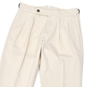 BERWICH【ベルウィッチ】ツープリーツパンツ SCOTCH DG1634 WHITE コットン ヘリンボーン オフホワイト cinqessentiel