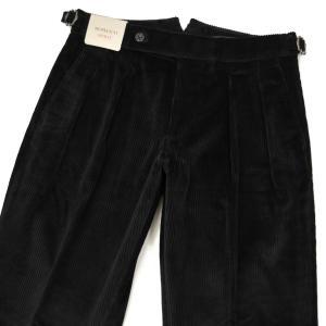 BERWICH【ベルウィッチ】ツープリーツパンツ SCOTCH DV1350X BLACK コーデュロイ ブラック|cinqessentiel