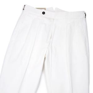 BERWICH【ベルウィッチ】ツ―プリーツパンツ SCOTCH DV1201X WHITE コットンストレッチ ホワイト cinqessentiel