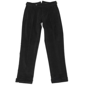 BERWICH【ベルウィッチ】ツープリーツパンツ SCOTCH DV1350X BLACK コーデュロイ ブラック cinqessentiel 02