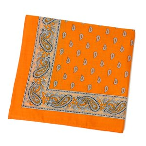 GLARNER TUECHLI【グラーナートゥエッチリ】バンダナ・ハンカチ BANDANA PAISLEY ORANGE(オレンジ)|cinqessentiel