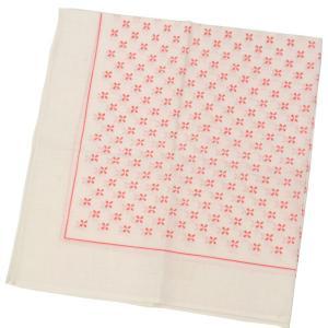 GLARNER TUECHLI【グラーナートゥエッチリ】バンダナ・ハンカチ DEAD STOCK BANDANA WHITE/PINK CREST(ピンク小紋柄)|cinqessentiel