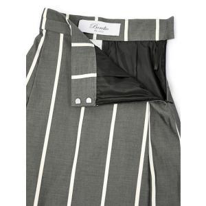 Borelio【ボレリオ】ストライプスカート ZOE 002 コットン ブラック ホワイト|cinqessentiel|02