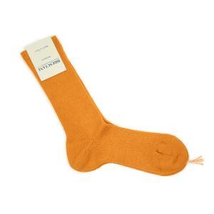 BRESCIANI【ブレッシアーニ】ソックス靴下 WD022UN0190 445018 MANGO ウール ナイロン オレンジ|cinqessentiel